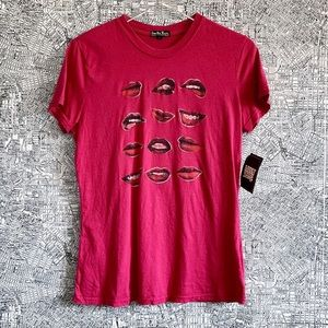 "Vintage Lucky Brand Lip ""Ooh La La"" Graphic Tee"